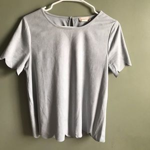 Altr'd State faux suede top